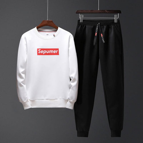 Supreme Tide Brand Printing Casual Sports Street Men's Suit