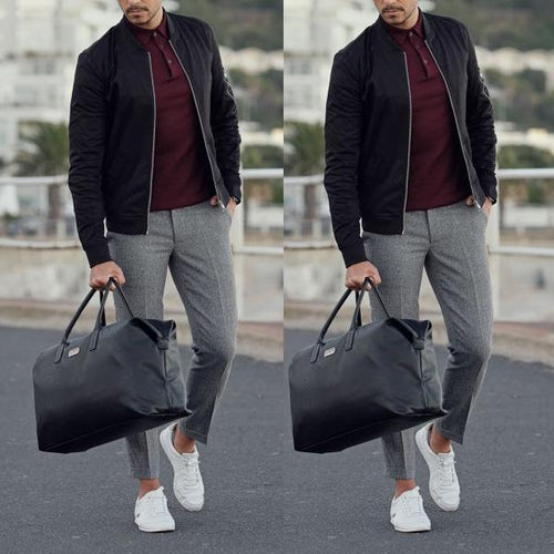 Slim Baseball Uniform Thin Men's Jacket