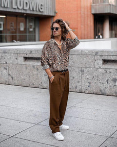 Sexy Leopard Printed Loose Button Shirt