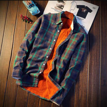 Load image into Gallery viewer, Men's Casual Autumn Winter Spring Thick Warm Fleece Cotton Shirts