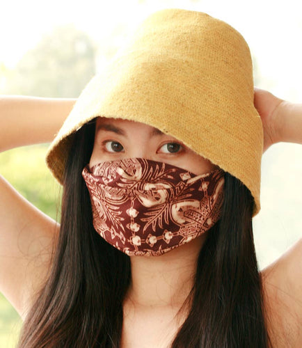 3-ply Expandable Vintage Batik Face Mask