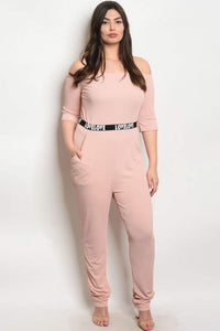 """LoveLove"" Jumpsuit In Blush"