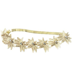 Gold Dandy Blossom Flower Headband