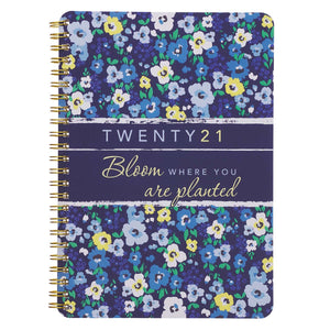 2021 Bloom Where You are Planted Wirebound Daily Planner
