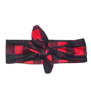 Knotted Plaid Headband