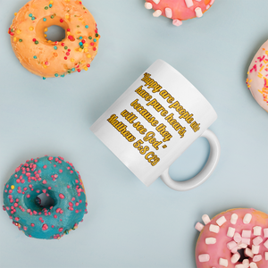 "Bible Verse Mug ""Happy Are People"""