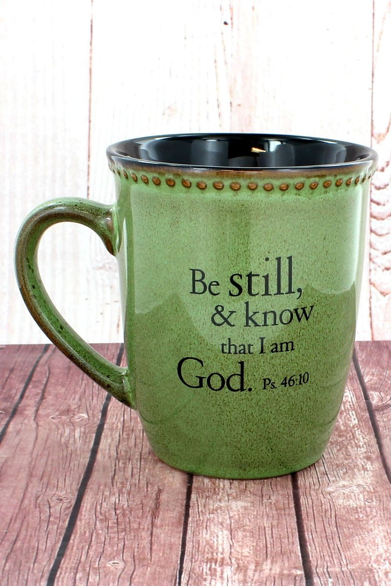 BE STILL... MOSS GREEN MUG