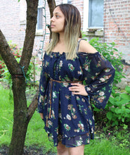 Load image into Gallery viewer, Floral Off The Shoulder Dress