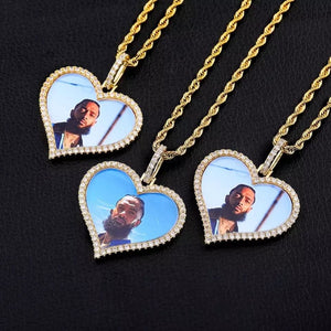 Custom Heart Memory Picture Pendant Necklace