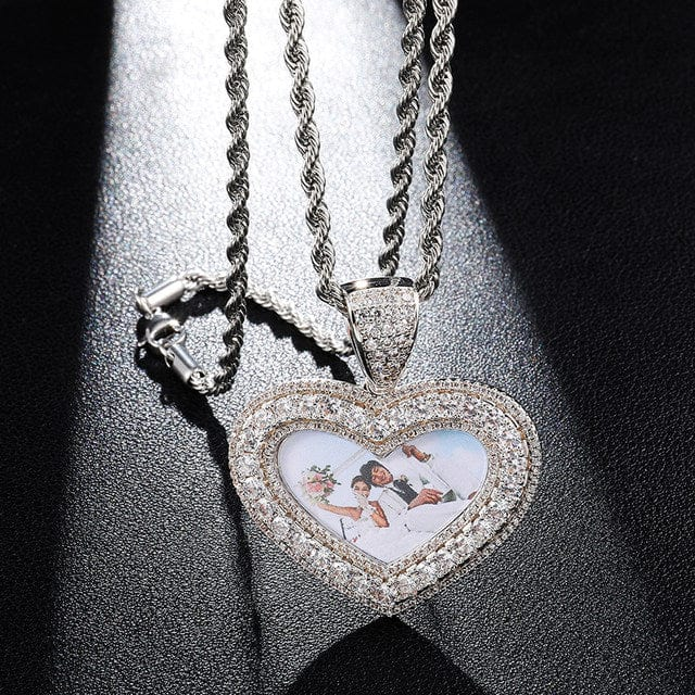 Custom Heart Shaped Photo Pendant