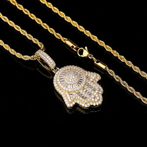 Gold Hamsa Hand Necklace