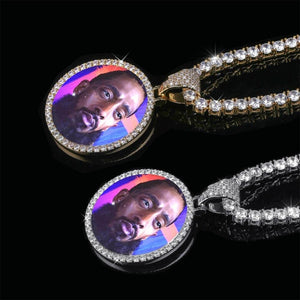 Custom Memory Photo Pendant Charm Necklace