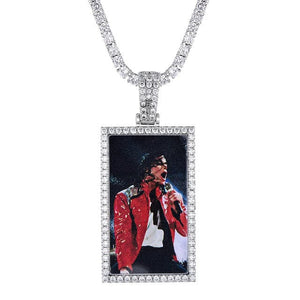 Square Custom Photo Pendant & Necklace