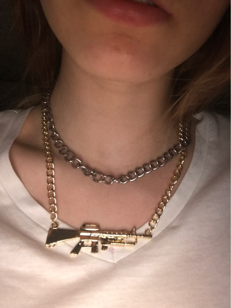 AR Pendant With Cuban Link Necklace