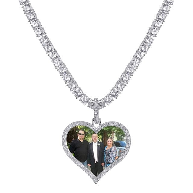 Custom Heart Shaped Photo Medallion & Necklace