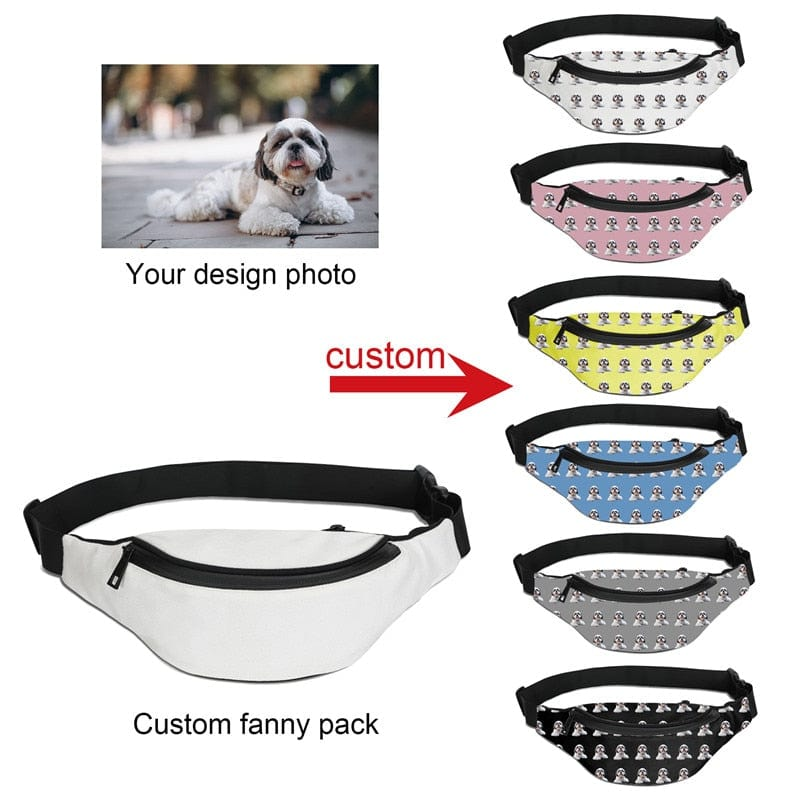Personalized Custom Print Fanny Packs