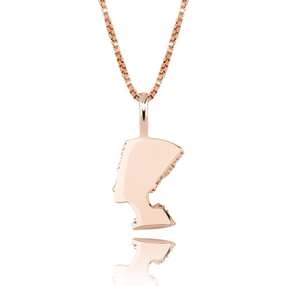 Queen Nefertiti Pendant Necklace - 100% 925 Sterling Silver