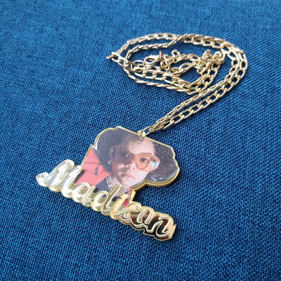 Custom Photo Cut Out Necklace