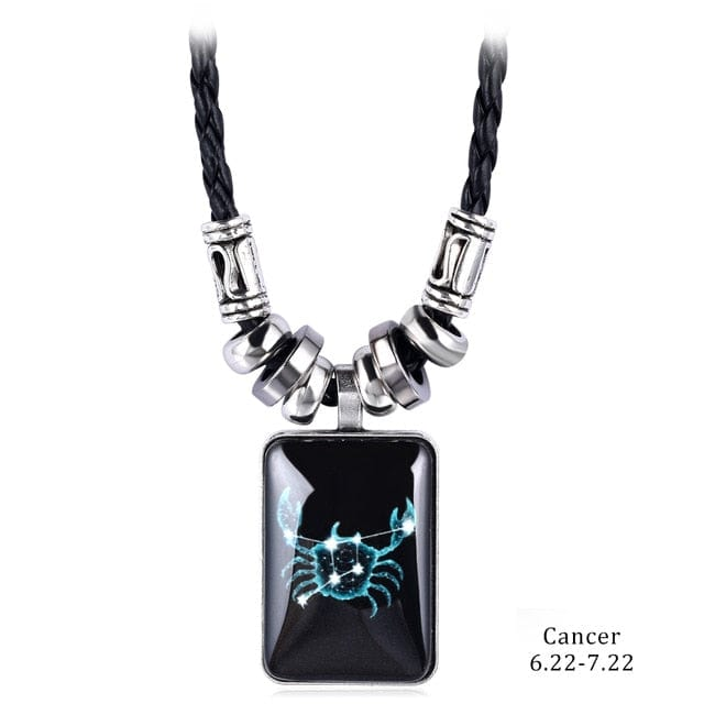 Titanium & Glass Constellation Pendant With Rope