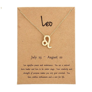Free Standing Gold Zodiac Sign Necklace