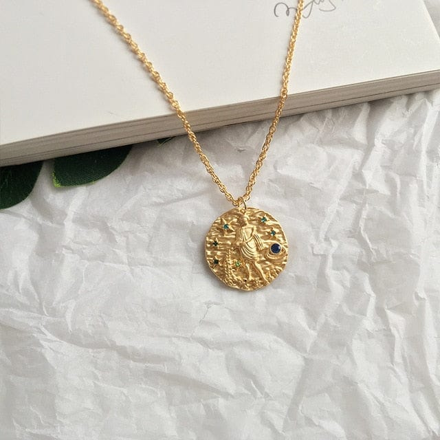 Sumerian Gold Coin Constellation Pendant/Necklace