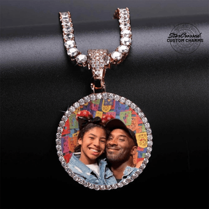 Rose Gold Custom Memory Picture Pendant Necklace