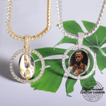 Two-Sided Rotating Custom Photo Pendant & Necklace (Small Frame)