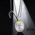 Oval Shaped Custom Photo Pendant & Necklace - Gold, Silver