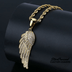 Angel Wing Pendant & Necklace - Gold, Silver