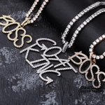 Tag Style Letter Name Pendants & Necklace