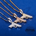 Pistol Pendant Necklace