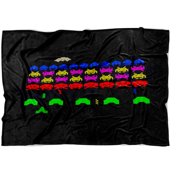 Galaga Vintage Fleece Blanket