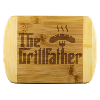 The GrillFather Round Edge Bamboo Cutting Board
