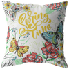 Yellow Colorful Spring Time Throw Pillow