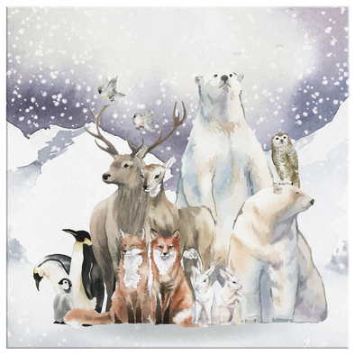Amazing Winter Animals Canvas Wall Art