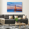 Lighthouse At Sunset Canvas Wall Art