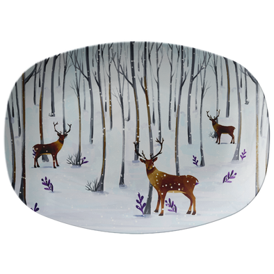 "Blue Snowfall 14"" Serving Platter"
