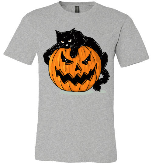 Halloween Bad Mood Cat Adult & Youth T-Shirt