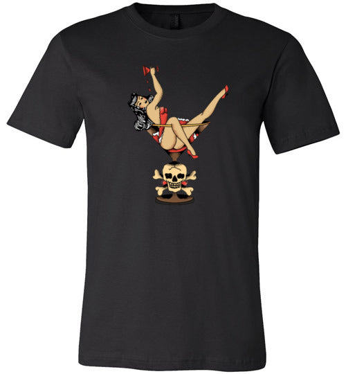 Vintage Martini Tattoo Girl Adult  & Youth T-Shirt