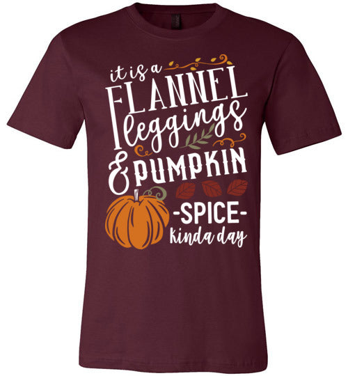 Flannel Leggins and Pumpkin Spice Unisex & Youth T-Shirt