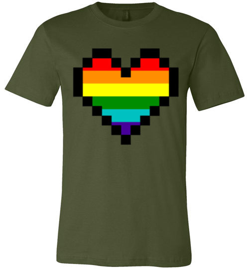 Pixelated Pride Heart Unisex & Youth T-Shirt