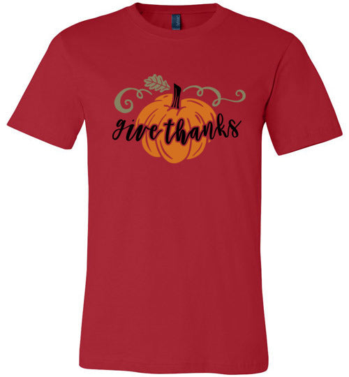 Pumpkin Give Thanks Adult & Youth T-Shirt
