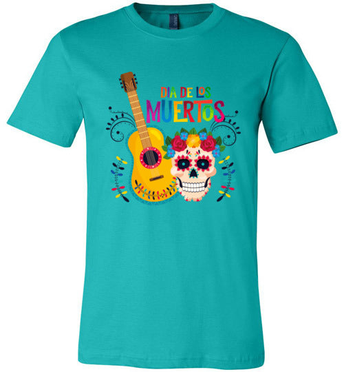 Dia de los Muertos Guitar Adult & Youth T-Shirt