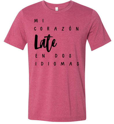Mi Corazón Late en Dos Idiomas Adult & Youth T-Shirt