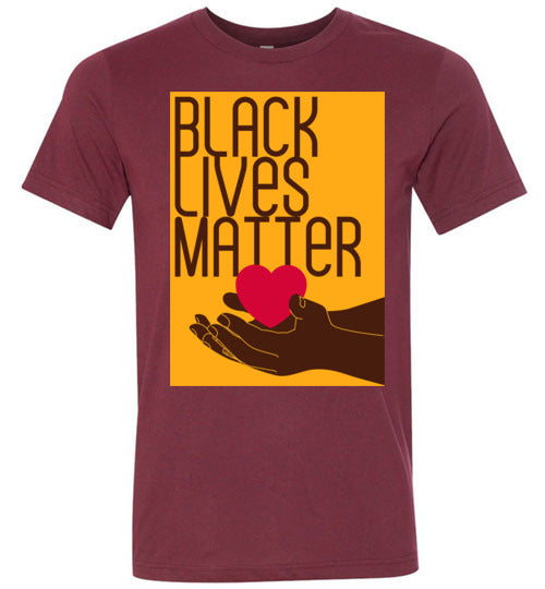 Black Lives Matter Healing Heart Men's T-Shirt