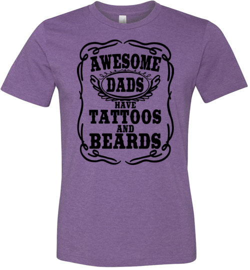 Awesome Dads Have Tattoos and Bears Men's T-Shirt