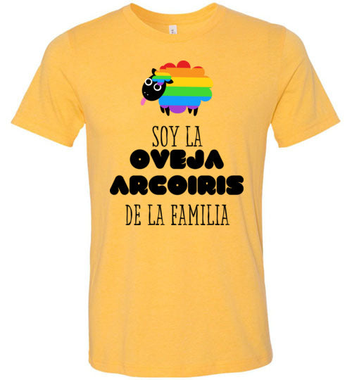 Soy la Oveja Arcoiris de la Familia Adult & Youth T-Shirt