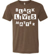 Black Lives Matter Block Letters Men's T-Shirt