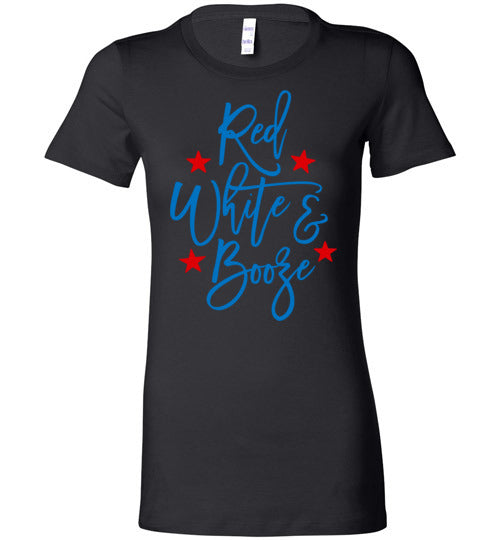 Red White And Booze Women's Slim Fit T-Shirt