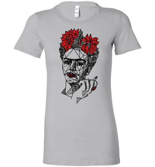 Geometric Frida Women's Slim Fit T-Shirt
